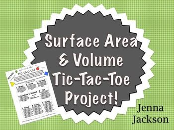 Free - Surface Area & Volume Tic-Tac-Toe Project