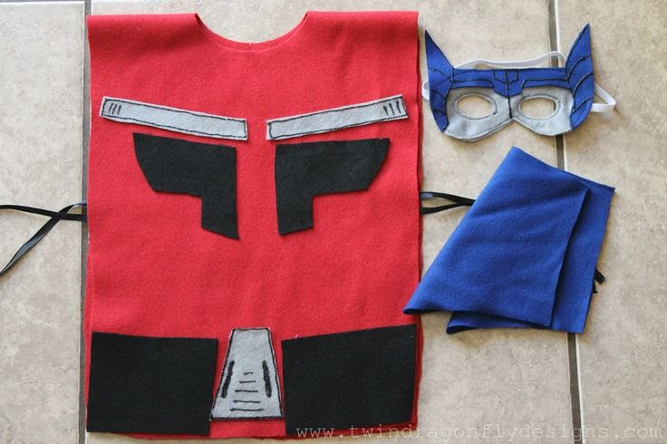 No Sew OPTIMUS PRIME Costume » Dragonfly Designs