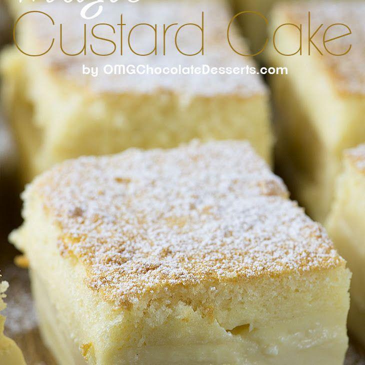 Vanilla Magic Custard Cake Recipe Desserts with unsalted butter, milk, eggs…