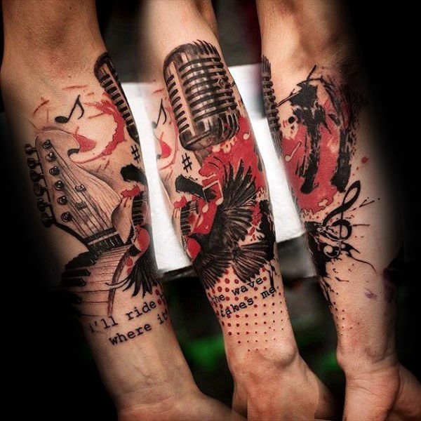 die 25 besten ideen zu mikrofon tattoo auf pinterest musiktattoos musik tattoos m nner und. Black Bedroom Furniture Sets. Home Design Ideas