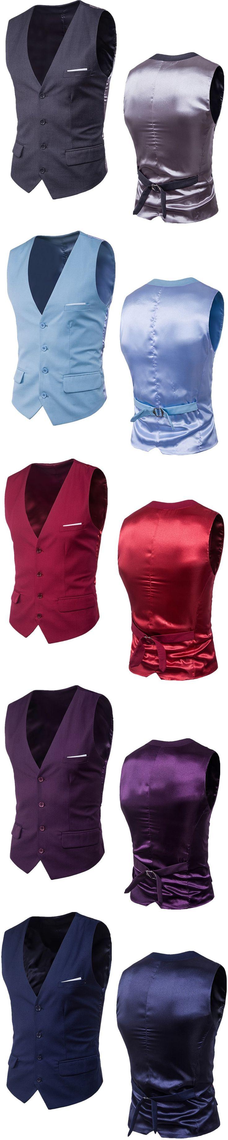 YFFUSHI 2017 Men Vest 9 Colors Business Casual Grooms Wedding Best Men's Blazer Vest Fashion Design Plus Size 6XL
