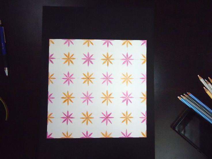 Half drop technique for motif placements
