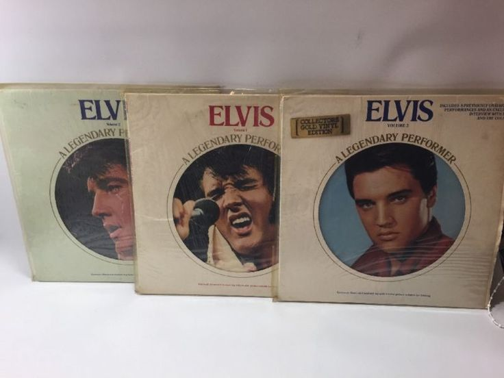 "ELVIS PRESLEY ""Legendary Performer Vols 1,2 &3"" rare Canadian GOLD 12"" LP, mint in Music, Records, Albums/ LPs 