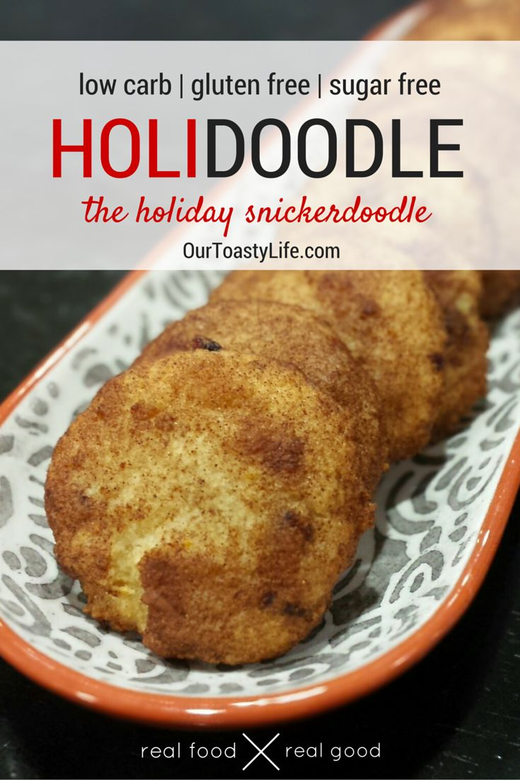 Holidoodle Cookie Two Ways (Low Carb, Gluten Free) -the perfect icing free christmas cookie!