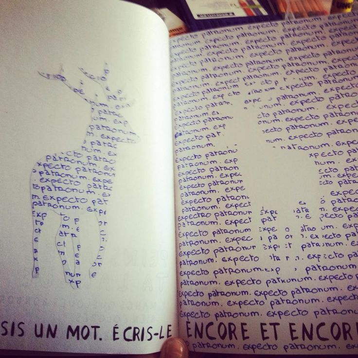 Wreck this journal - Saccage ce carnet - One word - Un mot - Harry potter - Patronus - Expecto Patronum