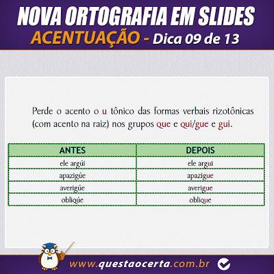 PoRtUgUêS nA TeLa: NOVA ORTOGRAFIA - Dica 09 de 13 - Acentuação (Part...