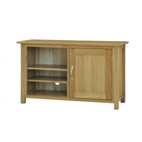 Canterbury Solid Oak MNE20 Standard Video Cabinet  www.easyfurn.co.uk