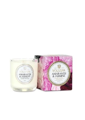 Voluspa Jardin Amaranth & Jasmine Boxed Votive Candle