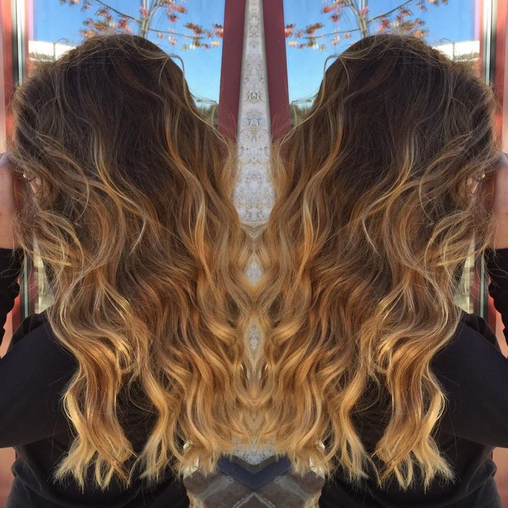 BRONDE balayage ombre #hairbylindsaybanks #caramel #brunette #brownhair #ombre #ombrehair #balayage #balayagehair #caramelombre #bronde #handpaintedhighlights #longwavyhair