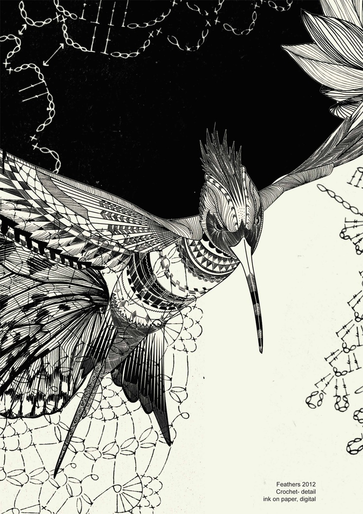 a new series of work called 'feathers'