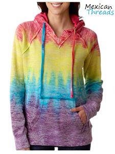 burnout tie dye hoodie