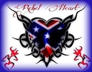Rebel Flag Heart
