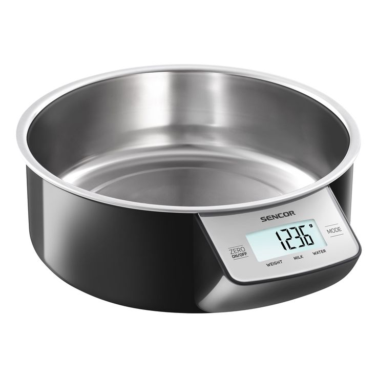 Sencor Kitchen Scale SKS 4030BK - Touch control sensors - Zeroing function for weight of container - 4 sensors for higher weighing accuracy