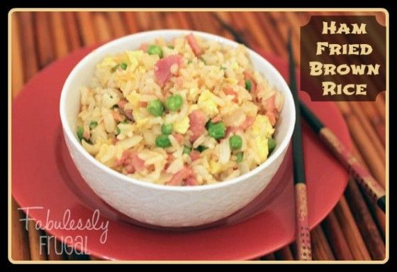 Ham Fried Brown Rice | Recipe