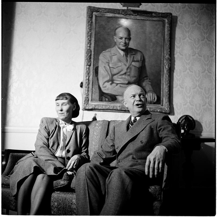 Dwight and Mamie Eisenhower, Columbia University