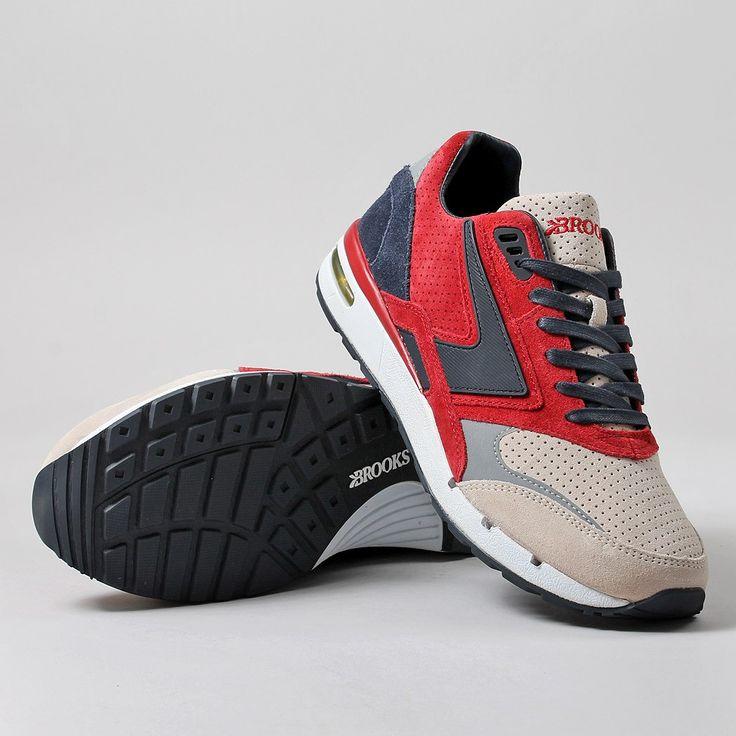 Brooks Heritage X UBIQ Fusion Shoes - Jester Red/Dark Navy Reserve