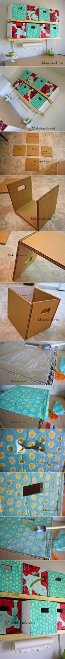 Quarto Craft, Parte 1 (caixas de armazenamento de papelão coberta)