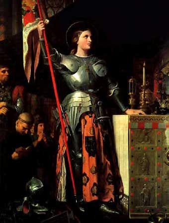 Juana de Arco (6 de enero de 1412 – 30 de mayo de 1431), también conocida como la Doncella de Orléans (o, en francés, la Pucelle), fue una heroína, militar y santa francesa. Su festividad se conmemora el día del aniversario de su muerte, como es tradición en la Iglesia católica, el 30 de mayo. En 1428 viajó hasta Vaucouleurs con la intención de unirse a las tropas del príncipe Carlos, pero fue rechazada. 22