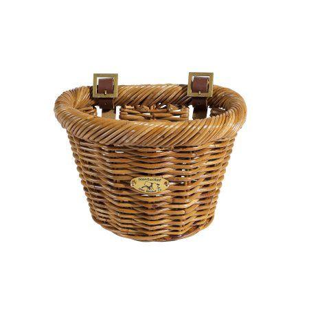 Nantucket Cisco F-Wicker Basket 10X7.5X7.5 D-Shaped, Brown