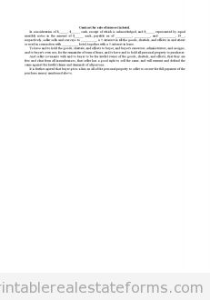 Free Contract for Sale of Interest in Hotel Printable Real Estate Forms