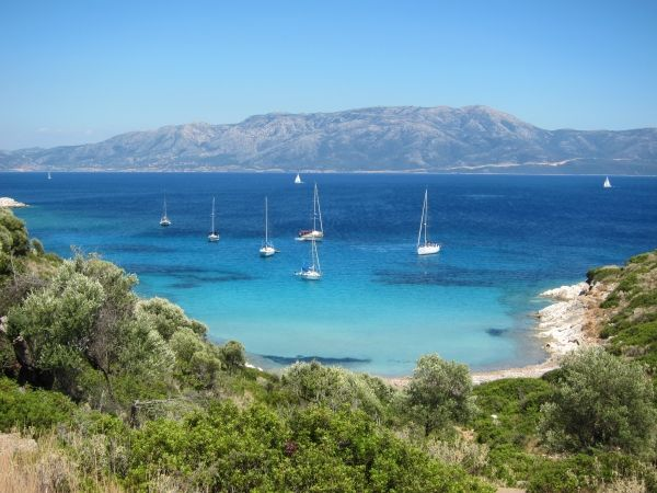 Yachts in the Ionian Sea
