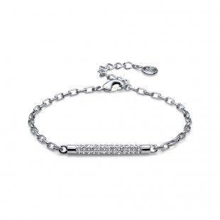 Oliver Weber Women pivot style bracelet rhodium with Swarovski Crystals