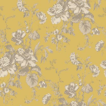 Fleurette Wallpaper In Gold By Arthouse Vintage