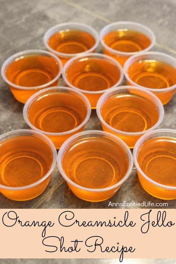 Orange Creamsicle Jello Shots Recipe. If you liked Orange Creamsicles as a kid…