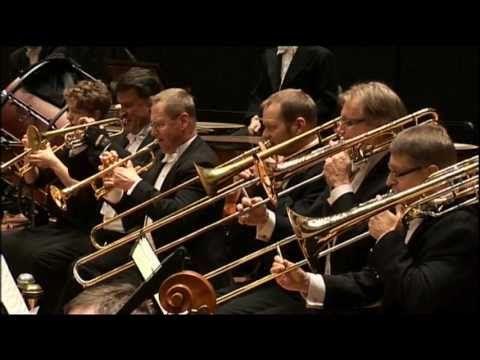 Lahti Symphony Orchestra performing with Okko Kamu as a conductor. # Kamu