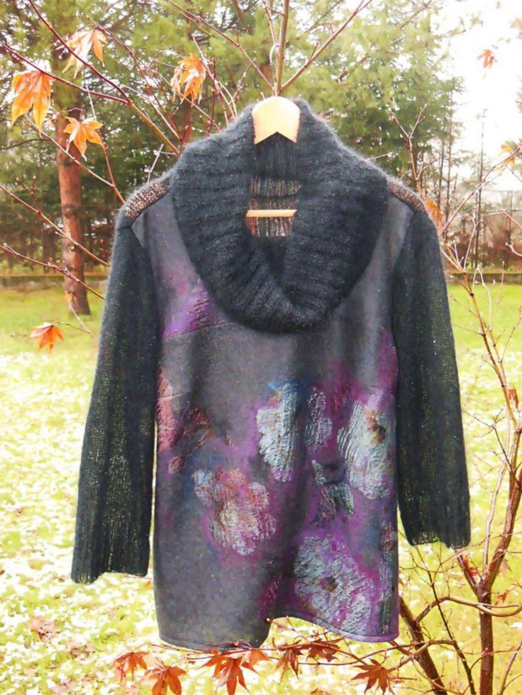handmade felt and fabric knitting ( kid mohair, merino wool, pure silk) by Agata Gadek - www.manufakturaubioru.decoart.pl.
