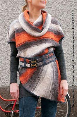 Wellamo-opiston käsityöblogi - Taitavin käsin: NEULEITA NEULEITA! Wellamo Community College, Lahti, Finland - machine knitting - spring 2015.