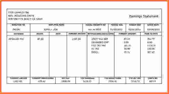 Free Paycheck Stub Template.100432270.png - Sales Report Template