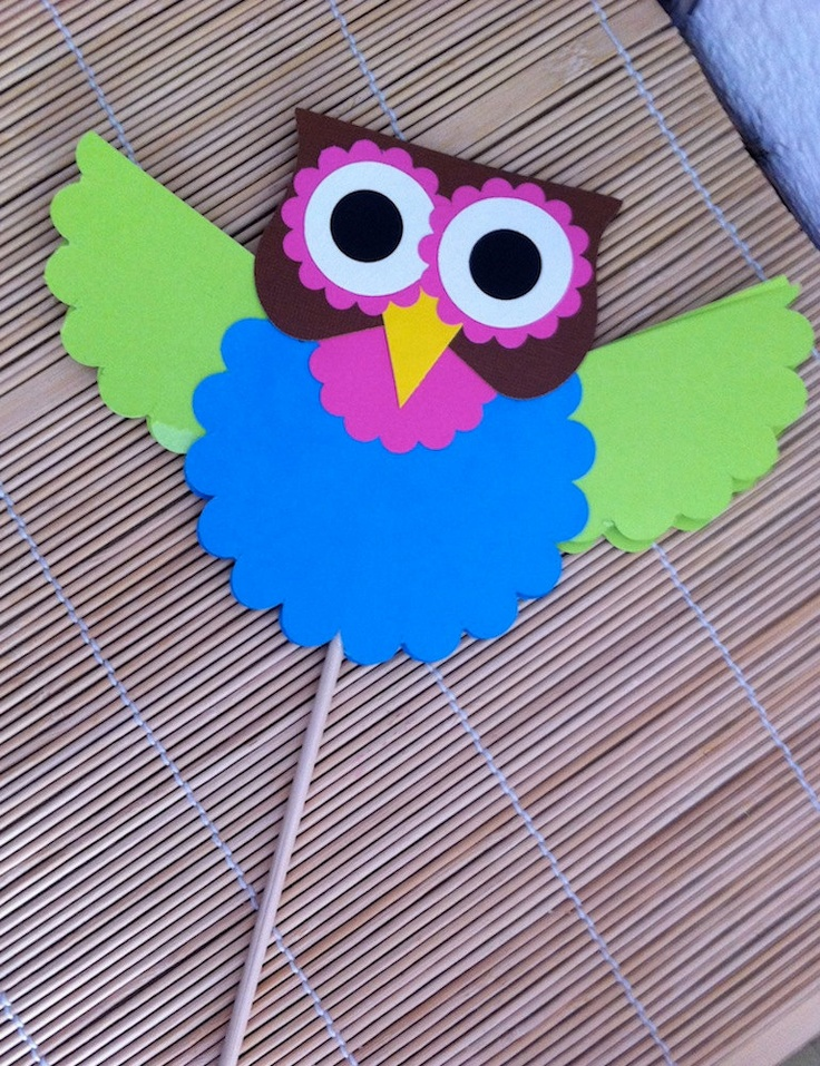 Hooty Owl Decoration by kreativekelors on Etsy. $2.50, via Etsy.