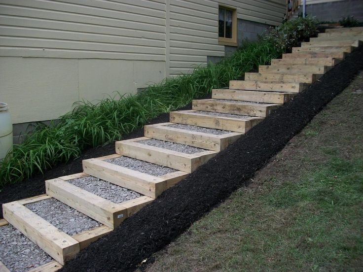 26 best images about timber stairs on pinterest for Garden design ideas for different levels