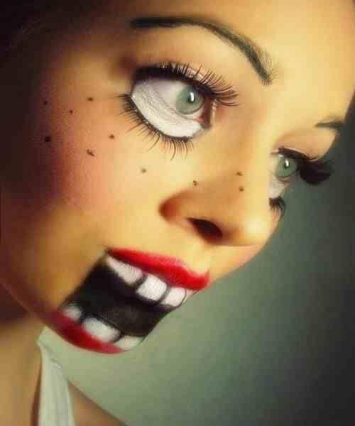 puppet facepaint halloween halloweenmakeup dollmakeup facepaint halloweenfacepaint puppet - Puppet Halloween