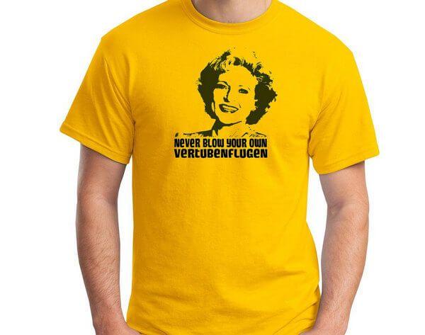 Vintage Retro T-Shirt Never Blow Your OWN VERTUBENFLUGEN