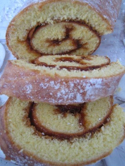 Gâteau roulé à la confiture de grand-mère