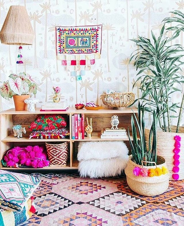 ❤ A little Bohemian home decor  inspiration ❤  ☉  Borrowed from  @justinablakeney