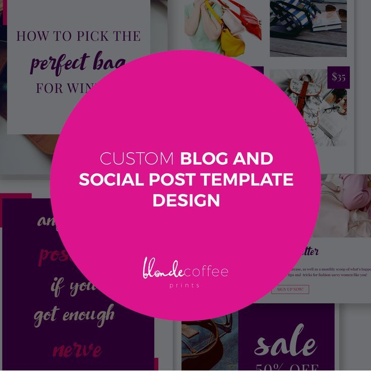 Do you need custom social media graphics for you business and brand? I design editable templates according to your brand and needs. Just click though to find out ore. Custom Blog and Social Post Template Design Package, Social Media Template, Blog Graphics, Minimalist Blog Post Template, Photoshop Template by BlondeCoffeePrints on Etsy