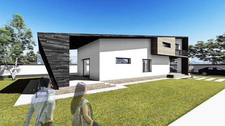 Proiect casa ANGULA. Parter + Mansarda | 4 camere | 123mp.  Mai multe detalii gasiti aici: http://uberhause.ro/proiect-casa-parter-mansarda-123-metri-patrati-angula