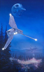 Star Wars - Imperial Forest - William Silvers - World-Wide-Art.com - $175.00 #StarWars #Lucas