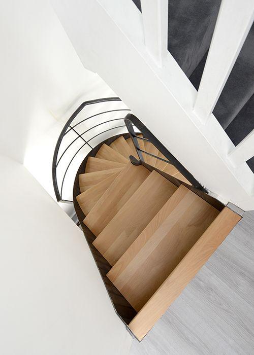 Photo dh109 spir 39 d co flamme mixte escalier d 39 int rieur m tallique design sur flamme - Deco interieur design ...