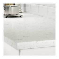 OXSTEN Måttbeställd bänkskiva, vit marmormönstrad, kompositsten - vit marmormönstrad/kompositsten - IKEA