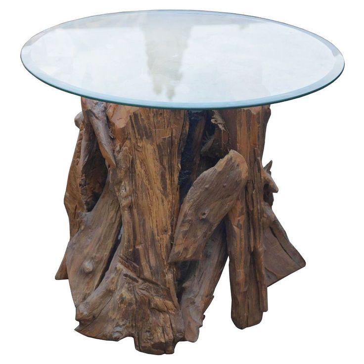 Tempered Metal Cylinder Side Table - Silver - Jeffan