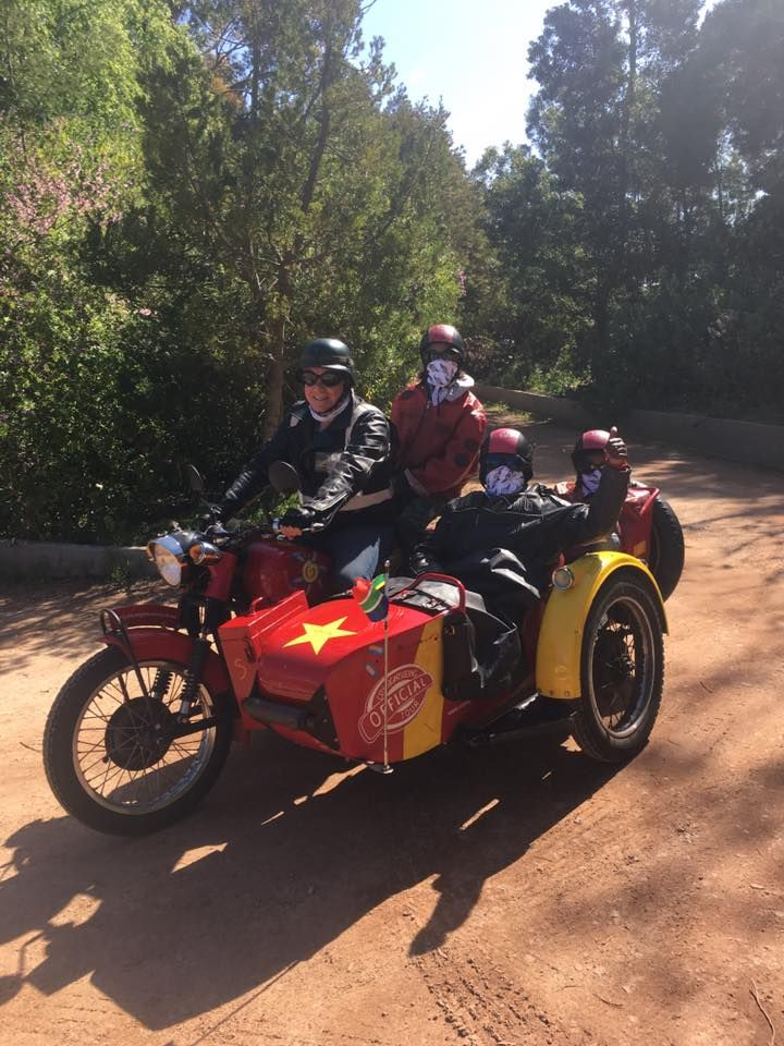 Sidecar fun in Elgin with Cape Sidecar Adventures - SA adventure summit