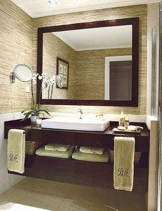 Las 25 mejores ideas sobre espejos para ba os en pinterest for Lavabos cuadrados sobre encimera