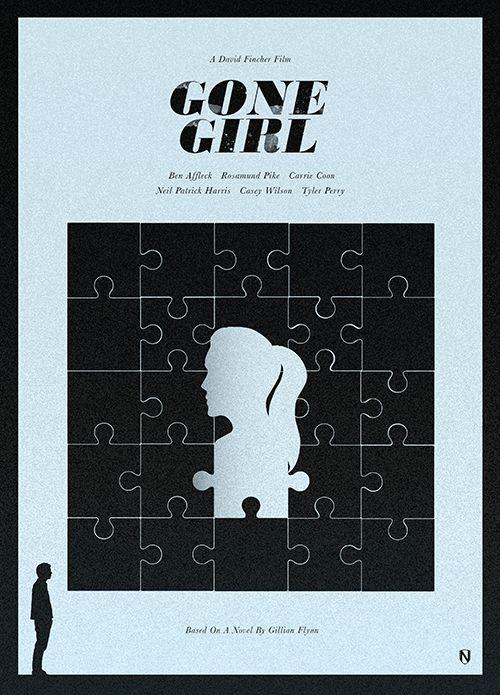 Gone Girl (2014) ~ Minimal Movie Poster by Matt Needle #amusementphile