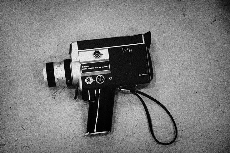 Super 8 camera.... I had a callous on my trigger finger for years. Loved making movies.