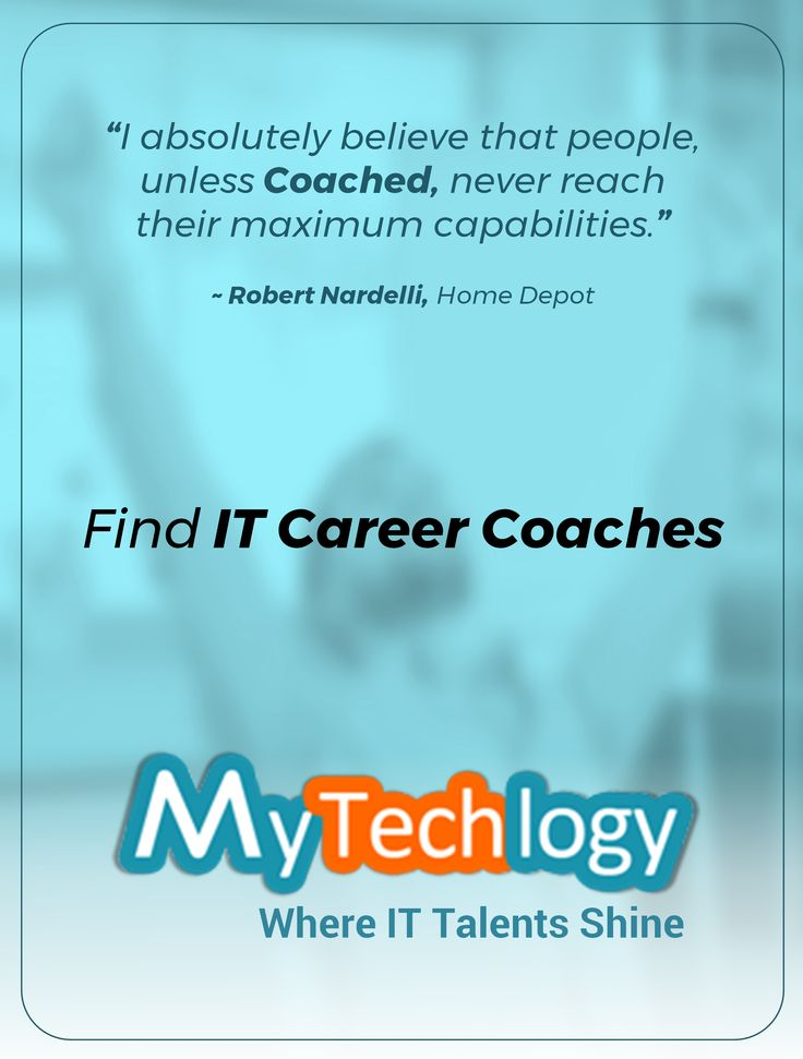 Reach your maximum capabilities with the help of coaches. Find Tech & IT career coaches @ MyTechlogy. Visit: https://www.mytechlogy.com/IT-career-development-services/