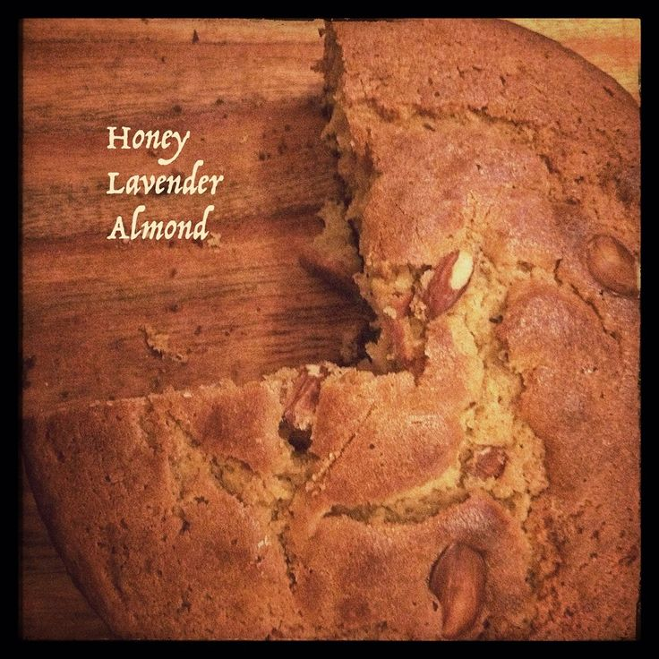 #Cake with honey, lavender and almond #organic 